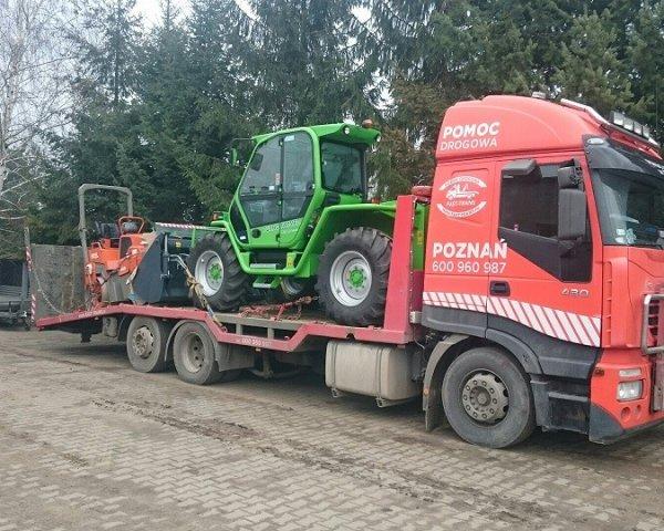 Transport maszyn koparek koparko ładowarekPoznań
